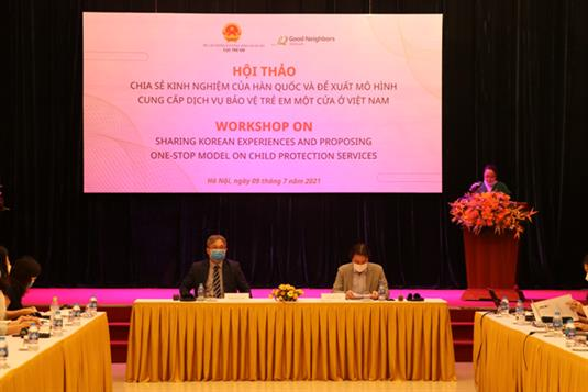 Hội thảo Việt - Hàn chia sẻ kinh nghiệm mô hình cung cấp dịch vụ bảo vệ trẻ em một cửa.