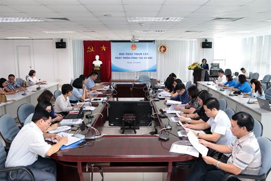 Hội thảo tham vấn Phát triển công tác xã hội