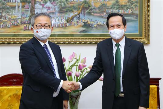 Bộ trưởng tiếp và làm việc với Đại sứ Nhật Bản tại Việt Nam