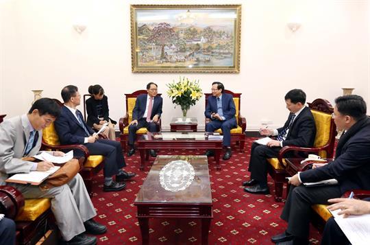 Bộ trưởng Bộ Lao động – Thương binh và Xã hội tiếp Đại sứ Hàn Quốc tại VN mới được bổ nhiệm