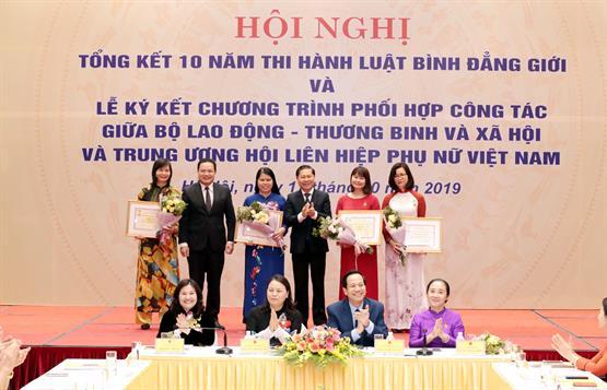 Hội nghị Tổng kết 10 năm thi hành Luật Bình đẳng giới