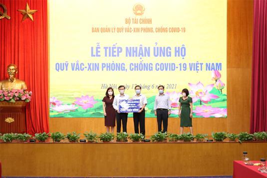 Bộ Lao động – Thương binh và Xã hội đóng góp Quỹ vắc-xin phòng, chống COVID-19 Việt Nam